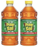 Lot (2) PINE SOL MULTI SURFACE CLEANER 40oz Each Indoor / Outdoor Concentrated!