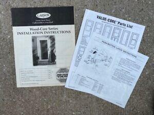 Larson Wood-Core Series Installation Instructions - Larson Storm Doors