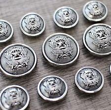 11pcs Anti Silver Metal Shank Suit Set Uniform Button Bespoke Blazer Sport Coat