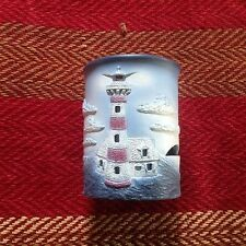 Shannon & Daughters Resin Candle Votive Lighthouse Scene