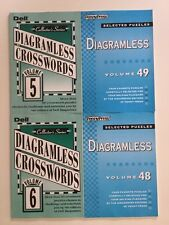 Lot of 4 Diagramless Crossword Puzzles Penny Press Dell Selected Variety $31.80