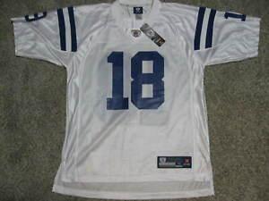 Peyton Manning Indianapolis Colts 2009 Mens Medium White Reebok Replica Jersey
