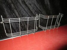 2 Vtg Steel Cabinet Caddy Cookbook Sponge Basket Farmhouse Sink Pantry Art Deco