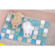 Pet Cooling Mat Hamster Cooling Stone Mat Ice Pad for Hot Summer Blue