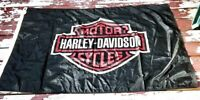 "Vintage Harley Davidson Motorcycles Logo Flag - Made in USA - 55.5"" x 37"""