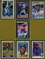 1989 GARY SHEFFIELD RC Lot of (7) Bowman, Donruss, Fleer, Score, Topps, UD HOF?