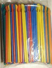 PLASTIC SPOON STRAWS 200ct, Multicolor Ice Cone Straws, FREE SHIPPING!