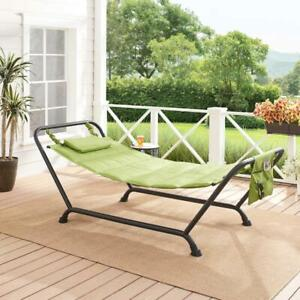 Belden Park Quilted Polyester Hammock with Stand Rust Resistant Steel Frame NEW