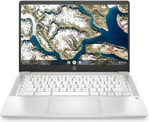 "HP 14a 14"" Chromebook - Intel® Pentium® Silver, 64 GB eMMC, White"