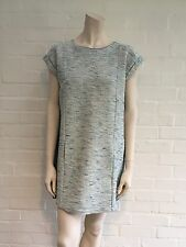 Amazing Chloé Chloe Blue Metallic Tweed DRESS Size 14 years girl fits an S women