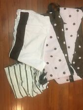 Baby And Child baby bedding set Pink And Brown Stripes And Dots Guc