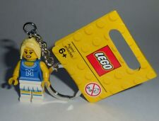 "KEY CHAIN Lego Series 1 8683 ""CHEERLEADER"" NEW Genuine Legos Handmade"