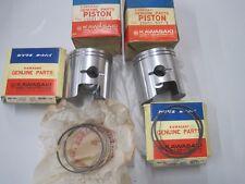 KAWASAKI NOS PISTON & RING SET A7 A7SS STD 13001-027 & 13008-021