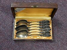 ANTIQUE RUSSIAN 875 STERLING SILVER 6 SPOONS SET 165.7 gr