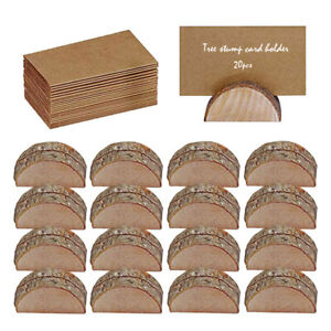 20Pcs Wooden Table Card Holder Stand Number Place Name Menu Party Wedding Decor~