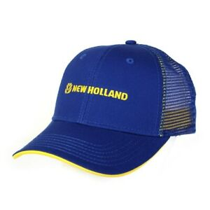 NEW HOLLAND BLUE LOGO CAP WITH BLUE MESH BACK #NH600 NEW