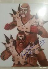 Road Warrior Animal Autographed & Jon Heidenreich WWE WWF 8x10 photo spike pads