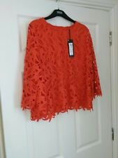 M&S Autograph Red Statement Button Detail Top, BNWT Size 14