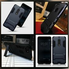 Nokia 5 caso diseño de carbón de alta densidad Reforzado MICRO CARCASA PROTECTORA AZUL
