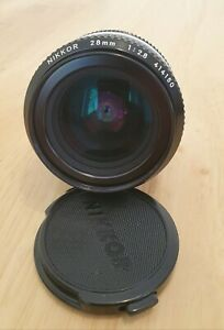Nikon Nikkor 28mm f/2.8 AI Manual Focus Lens