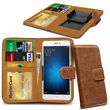 For Wiko Rainbow Lite 4G - Clamp Style PU Leather Wallet Case Cover
