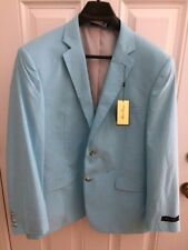 NWT Alan Flusser Sea-Glass Blazer Sports Coat Jacket 44 Regular