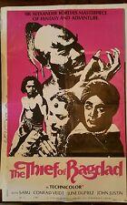 Original 1980 27 x 40 THIEF OF BAGHDAD Sabu Conrad Veidt June Duprez John Justin