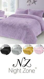 Luxury Alaska Cuddles Soft Cosy Warm Teddy Bedding Duvet Cover Set Fluffy Size