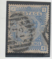 Stamp England 10/- blue queen Victoria high value anchor watermark SG183