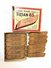 Vintage Lot 12 Titian 85 Weldon Roberts Rubber Co Erasers UNUSED