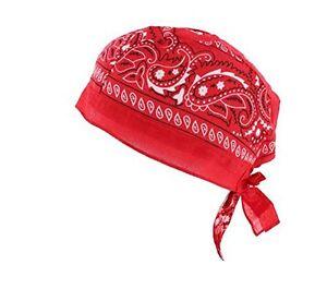 Paisley Pattern cotton fitted Zandana bandana with ties 6 designs fast post