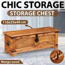# Rough Mango Wood Storage Chest Trunk Solid Durable Handmade Unique Coffee Tabl