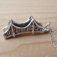 Golden Gate Bridge Necklace - 925 Sterling Silver Charm San Francisco California