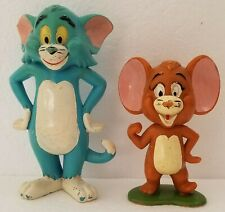 Vintage 1973 Tom & Jerry Figures Lot of 2 Made by Marx Toys Htf Rare