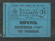 1936 Edward Viii Sg Bc2, 2/- Booklet, Number 357 Complete with Adverts.