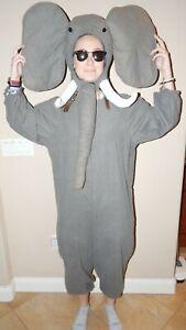 Adult ELEPHANT Full Body Costume Handmade M/L Cotton Flannel Halloween GOP XLNT