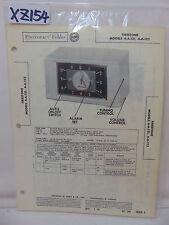SAMS PHOTOFACT FOLDER MANUAL & SCHEMATIC CLOCK RADIO FIRESTONE 4-A-121 & 4-A-122
