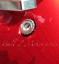 99-17 Hayabusa Chrome Engraved Tail Lock Rear Latch Cover Cap w/Ball Cut Edges!