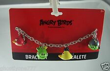 Angry Birds spike charm bracelet chuck king and corporal pig