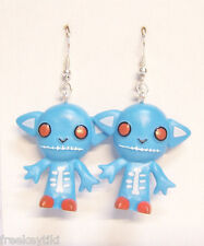 Harajuku Japan The Gooli Monsters Blue Skellbo Mini Art Toys Dangle Earrings