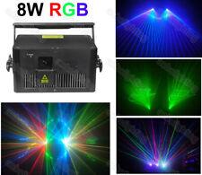 8000mW 8W disco laser showlaser RGB Laser System 40K Animation Laser projector