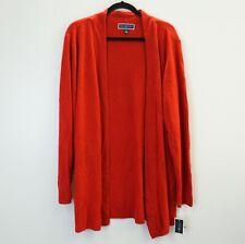Karen Scott Womens Sweater Long Sleeve Open Front Cardigan Red 2X $54