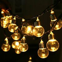 20FT PLUG IN OUTDOOR INDOOR WEDDING PARTY FESTOON GLOBE FAIRY STRING LED LIGHTS