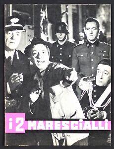 BROCHURE I DUE 2 MARESCIALLI TOTO' VITTORIO DE SICA CORBUCCI DE CURTIS 1961