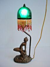 Whimsical Antique Art Deco Nude Nymph Boudoir Lamp