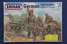 Emhar 7204: German WW1 Artillery w/96n/A77mm Gun (2 Guns, Crew & Infantry Figs)