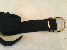 Polo Ralph Lauren Navy Blue Braided Weave Stretch Belt Gold  Tone Buckle 40""