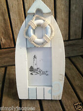 SHABBY chic PICCOLO Canoa & Vita Anello FOTO / PHOTO FRAME, costiere.