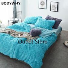 Thick Fleece Bed Fitted Shee Bedding Set Mink Velvet Duvet Cover  Pillowcases