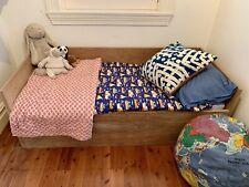 Junior plywood Bed  + Ikea mattress  + Storage - Great condition!